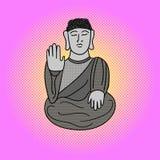Buddha pop art vector illustration Stock Images
