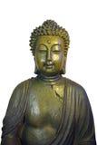 Buddha portrait. Isolated portrait of bronze buddha Royalty Free Stock Image