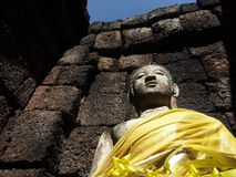 Buddha portrait on Castle Rock Royalty Free Stock Images