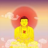 The Buddha portrait Stock Image