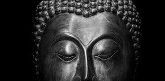 Buddha portrait isolated. stock images