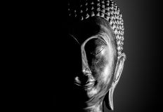 Buddha portrait isolated. Royalty Free Stock Photos