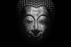 Buddha portrait isolated. Royalty Free Stock Images