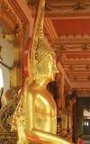 Buddha portrait Isolates the upper side of the sitting Buddha. Buddha portrait at temple , nakornphanom Thailand Royalty Free Stock Photography