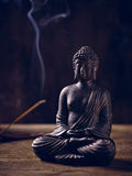 Buddha Portrait joss stick Royalty Free Stock Images