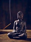 Buddha Portrait joss stick Royalty Free Stock Photos