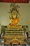 Buddha posture Nagas overspread Royalty Free Stock Image