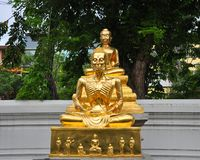 Buddha Postures statues. Two postures of Buddha Royalty Free Stock Images