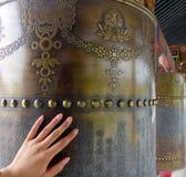 Buddha prayer wheels  Stock Photos