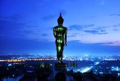Buddha prima di alba immagini stock libere da diritti