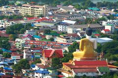 Buddha protech the city. Big buddha image protech the city, Thailand Royalty Free Stock Image
