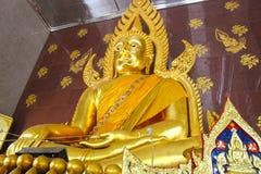 Buddha przy Watem Sra Morakot Obraz Royalty Free