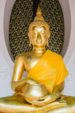 Buddha put hand to alms-bowl. 
