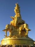buddha puxian staty Arkivfoto