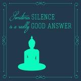 Buddha quote motivation poster Stock Photo
