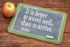 Buddha quote on travel and life Stock Photography