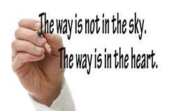 Buddha quote Stock Image