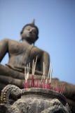 buddha rökelse Arkivbild