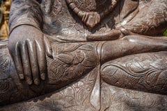 Buddha ręki Kamienna statua Siedzieć Buddha, Bali, Indonezja z bliska obrazy stock