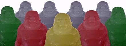 Buddha-Raserei Stockfoto