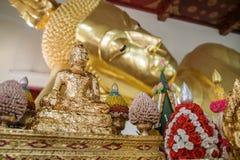 Buddha 001. Reclining Buddha inside the big pagoda in thailand Stock Photo