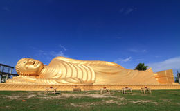 buddha reclining staty Royaltyfri Fotografi