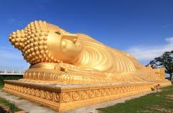 buddha reclining staty Royaltyfria Bilder