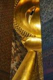 Buddha. Reclining Buddha in thai temple Stock Photos