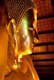 buddha reclining thailand Royaltyfri Foto