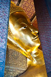 Buddha Reclining at wat pho in Thailand Royalty Free Stock Images