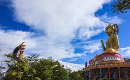 Buddha refrain. Buddha image refrain Naka with blue sky background Stock Photography