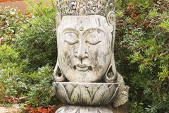 Buddha resting in garden, Sardinia stock photo