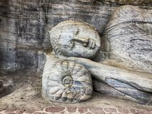 Buddha Resting On A Stone Pillow royalty free stock photo