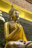 Buddha with robes Stock Photography
