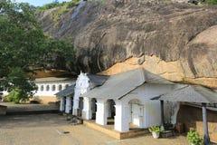 Buddha Rock temple in Dambulla Royalty Free Stock Image