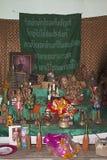Buddha room spiritual pary offerings indoors Royalty Free Stock Photos