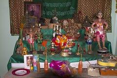 Buddha room spiritual pray offerings Royalty Free Stock Images