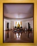 Buddha room at Wat Pa Sri Thaworn Nimit royalty free stock photography