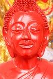 Buddha rosso Fotografia Stock