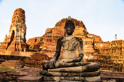Buddha in the ruin temple. Buddha statue in the ruin temple Stock Images