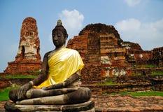 Buddha among the ruins. Ayutthaya Thailand Royalty Free Stock Image
