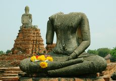 Buddha Ruins at Ayutthaya Royalty Free Stock Photos