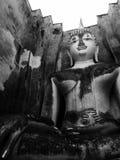 Buddha rzeźba w Antycznej świątyni Zdjęcie Royalty Free