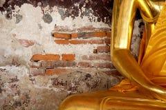 Buddha's arm. Golden Buddha's arm in Thai temple, Bangkok Thailand Stock Image