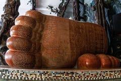The Buddha's big foot Royalty Free Stock Photo