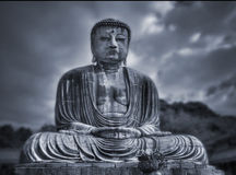 Buddha's big statue. Blue tone. Stock Photos