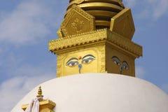Buddha's Eyes – Stupa Royalty Free Stock Images