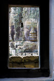 Buddha's Face at Bayon Temple, Cambodia Royalty Free Stock Photos