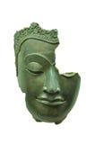 Buddha's face break isolated on white Royalty Free Stock Image