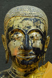 Buddha's face close up focus on eye. Royalty Free Stock Image